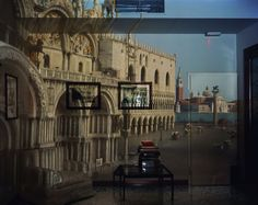 Abelardo Morell (b. 1948), Upright Camera Obscura Image of the Piazza San Marco Looking Southeast in Office, 1993