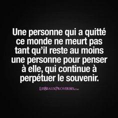 Le souvenir d'une personne - - Message Triste, Citations Souvenirs, Good Quotes For Instagram, Tu Me Manques, Quote Citation, Loss Quotes, French Quotes, Life Words, Bad Mood