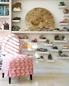 <3 <3 <3   A GORGEOUS way to display rocks and minerals!   BRYANSTON | Tessa Proudfoot & Associates