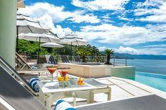 Villa Bahia luxury oceanfront near Hyatt Ziva on the dramatic south shore of Puerto Vallarta.
