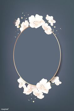 Oval cherry blossom frame vector | premium image by rawpixel.com / wan Abstract Iphone Wallpaper, Framed Wallpaper, Flower Background Wallpaper, Flower Backgrounds, Wallpaper Backgrounds, Flower Graphic Design, Invitation Background, Floral Logo, Instagram Highlight Icons