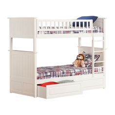 Atlantic Furniture AB59122 Urban Lifestyle Nantucket Bunk Bed #home decor sale & deals Bed Size:Twin over Twin, Finish:White Urban LifestyleNantucket Bunk Bed with Raised Panel Drawers The Nantucket bunk bed takes you back to that cottag... Check more at http://ezhomezone.com/product/atlantic-furniture-ab59122-urban-lifestyle-nantucket-bunk-bed/