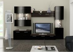 wall color for dark furniture | Figaro Wall Unit [Figaro Wall Unit] : Home Furniture, Modern ...