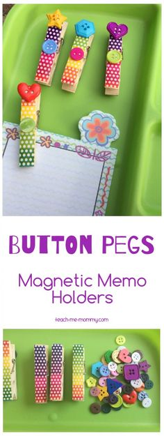 Button Pegs Memo Holders - Teach Me Mommy