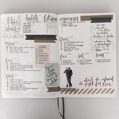 Bullet journal layout | Tumblr