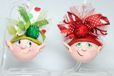 Little Elves ready to create mischief on your tree or shelf.