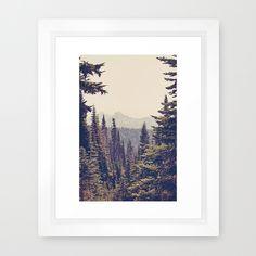 Mountains through the Trees Framed Art Print