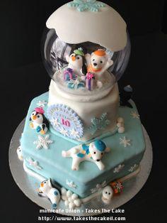 mimicafe Union: Snow Dome Birthday Cake