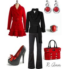 Red...& Black...and Polka.Dots.Heels (that need to be on my feet, now!)  :)