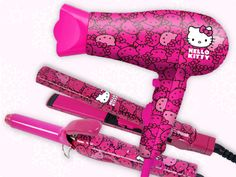 Hello Kitty x SparkleBee Hair Dryer, Hair Straightener and Curling Iron