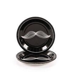 Moustache Party Paper Dessert Plate 8ct