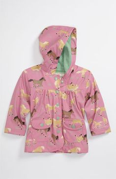 Hatley 'Running Horses' Rain Jacket (Infant, Toddler & Little Girls) available at #Nordstrom