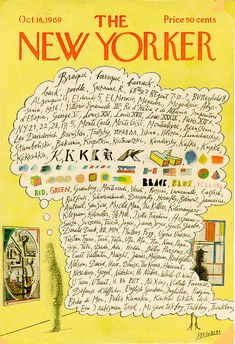 Stream of human consciousness - Saul Steinberg's New Yorker cover from October 1969.