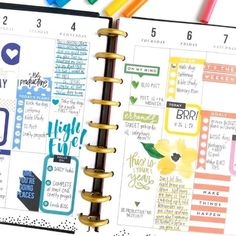 With the thousands and thousands of stickers The Happy Planner® line contains, how do you choose which ones to use?  Where do you start?  Today we're sharing two fully functional, yet colorful weekly layouts to explore the answers to these questions. . . First, we have a tri-color weekly layout by mambi Design Team member @momruncraft that she created in her 'Be Bright' CLASSIC Happy Planner®, and then we share a ROYGBIV weekly layout in the CLASSIC 'This is Your Year' Happy Planner® of m...