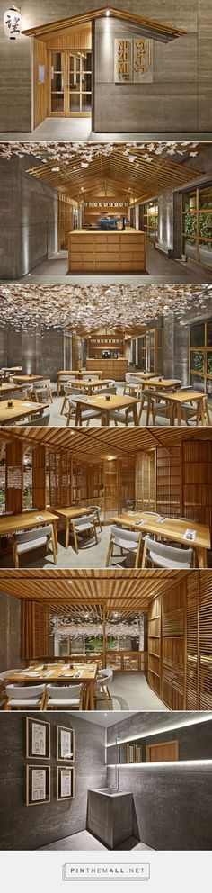 Nozomi Bar Sushi Restaurant in Valencia 2015 Selectism created via pinthem Japanese Restaurant Design, Restaurant Interior Design, Cafe Interior, Interior And Exterior, Café Restaurant, Restaurant Concept, Sushi Restaurants, Commercial Interior Design, Commercial Interiors