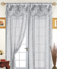 Look what I found on #zulily! Silver Tango Curtain Panel #zulilyfinds These will go with gold, white, dove gray in BedRoom. See comforter.