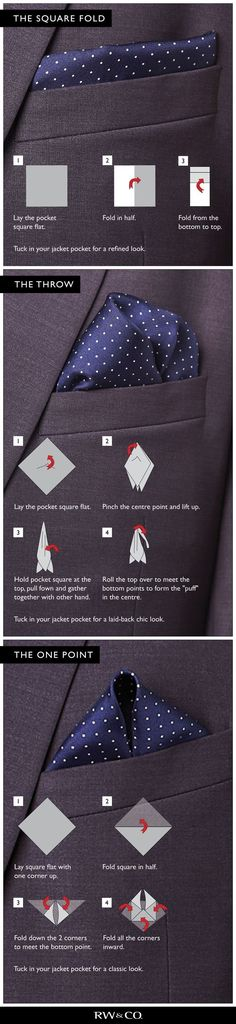 How to wear a handkerchief.