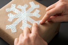 A washi snowflake? So easy to make and festive as ever.