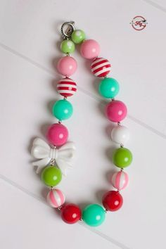 Gnomes for the Holidays Girls Chunky Necklace M2M Kids Fly Too. $25.00, via Etsy.