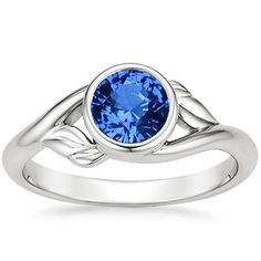 18K White Gold Sapphire Terra Ring from Brilliant Earth