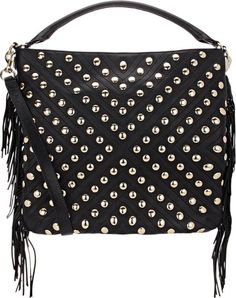 Rebecca Minkoff Studded Clark Hobo-Black take an extra 50% off clearance, plus 40% off sitewide, through Nov. 23.