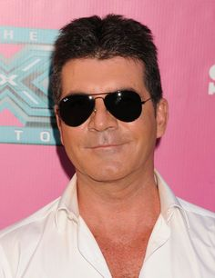 Simon Cowell in Ray Ban Sunglasses