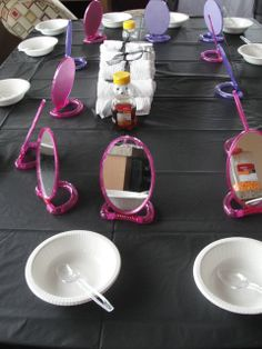 """Photo 1 of Spa Party / Birthday """"Kiersten Monster High Spa Party"""" Spa Day Party, Spa Birthday Parties, Pamper Party, Birthday Party Tables, Birthday Ideas, Spa Day For Kids, Kids Spa, Monster High Birthday, Monster High Party"""