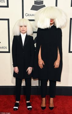 Long line: Sia appears to come from a family with a musical background. Here she is pictur...