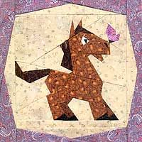 A Little Horsey | Paper Panache - paper pieced quilt block