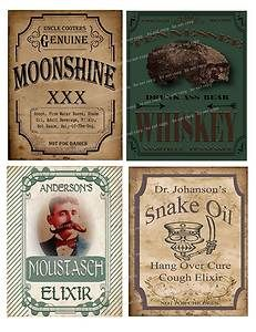 Primitive Vintage Whiskey Moonshine Elixir Labels FH468 | eBay