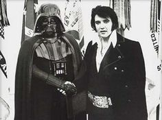 lol, great shop job on this pic of Elvis and Nixon...oh I mean Vader.