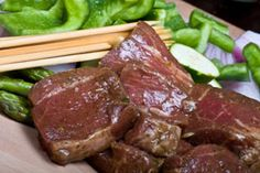 Hawaiian Beef Marinade - This is THE BEST marinade! While steak is grilling add a little cornstarch to the the remaining sauce and bring to a boil - delish!