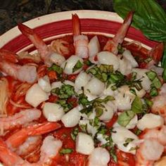 Shrimp, Clams, and Scallops Pasta