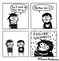 By Sarah Andersen. Sarah See Andersen, Sarah Anderson Comics, Funny Art, Funny Memes, Stupid Funny, Hilarious, Seriously Funny, Sarah's Scribbles, Morbid Humor
