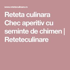 Reteta culinara Chec aperitiv cu seminte de chimen   Reteteculinare
