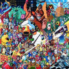 Classic Nintendo Characters BLOTTER ART - perforated acid art paper - Kesey Leary Hofmann Owsley Grateful Dead psychedelic lsd sheet tabs