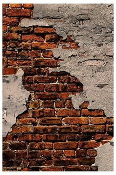 How to construct perfect DIY brick walls? - No matter you are looking to build a small patio DIY brick wall or an outside boundary wall for your house there are some basics that you must know be. Old Brick Wall, Exposed Brick Walls, Faux Brick, Old Wall, Brick And Stone, Brick Art, Graffiti Kunst, Brick Texture, Old Bricks