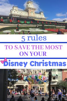 Enjoy your Disney Vacation over Christmas time without worrying about money! Discover 5 budget tips for your holiday trip. Disney World Vacation. Walt Disney World.  #disneytips