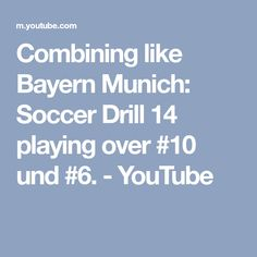 Combining like Bayern Munich: Soccer Drill 14 playing over und Soccer Training Drills, Soccer Drills, Soccer Coaching, Soccer Games, Good Soccer Players, Football Players, World Cup Russia 2018, Soccer Boys, Football Season