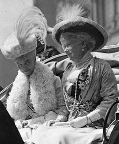 Thyra, The Crown Princess of Hanover, Duchess of Cumberland and Teviotdale (till 1919 she was also Princess of Great Britain and Ireland and Duchess of Brunswick and Luneburg, she was a born Princess of Denmark, a sister of Queen Alexandra of Great Britain and Empress Marie Feodorovna of Russia) & the German Empress Augusta, née Princess of Schleswig-Holstein, wife of Kaiser Wilhelm II.
