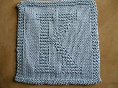This Site Has Knit Patterns For the Alphabet. Use for Washcloth, Dishcloth, Hotpad etc...