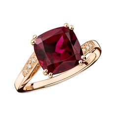 Môme je t'aime Ring , pink gold, rhodolite and diamonds - Mauboussin