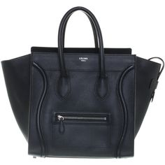 """Pre-owned Black """"""""mini luggage"""""""" (8 850 PLN) ❤ liked on Polyvore featuring bags, luggage and black"""
