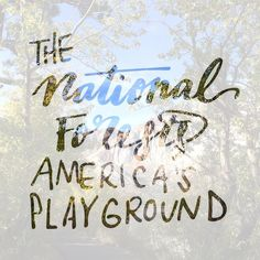 """285:: """"The National Forests Americas Playground"""" // Another approach ;) #emletters #lettereveryday"""