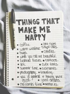 I should do a list like that