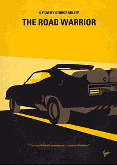 Mad Max 2 The Road Warrior (1981) ~ Minimal Movie Poster by Chungkong #amusementphile