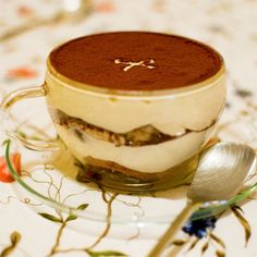 (Tiramisu in individual cup – with ribbon design stenciled.) . High time for another recipe! So here goes (…a long one)! ^^  x . . x . . x . . x . . x . . x . . x . . x . . x . . …