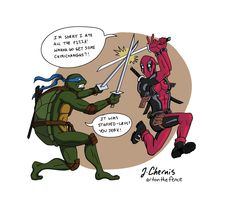 Start your morning with a laugh :)  #TMNT #NinjaTurtles #TeenageMutantNinjaTurtles #Deadpool