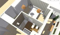 Vista general de dormitorio principal y baño, con ampliación de terraza