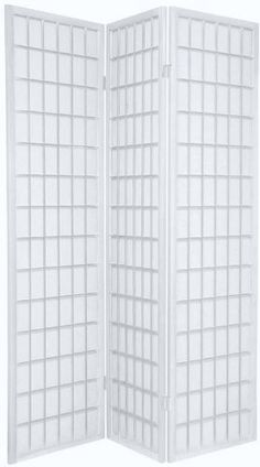 Perfect for the studio. TOKYO White Handmade Wood and Paper 3 Pane Room Divider